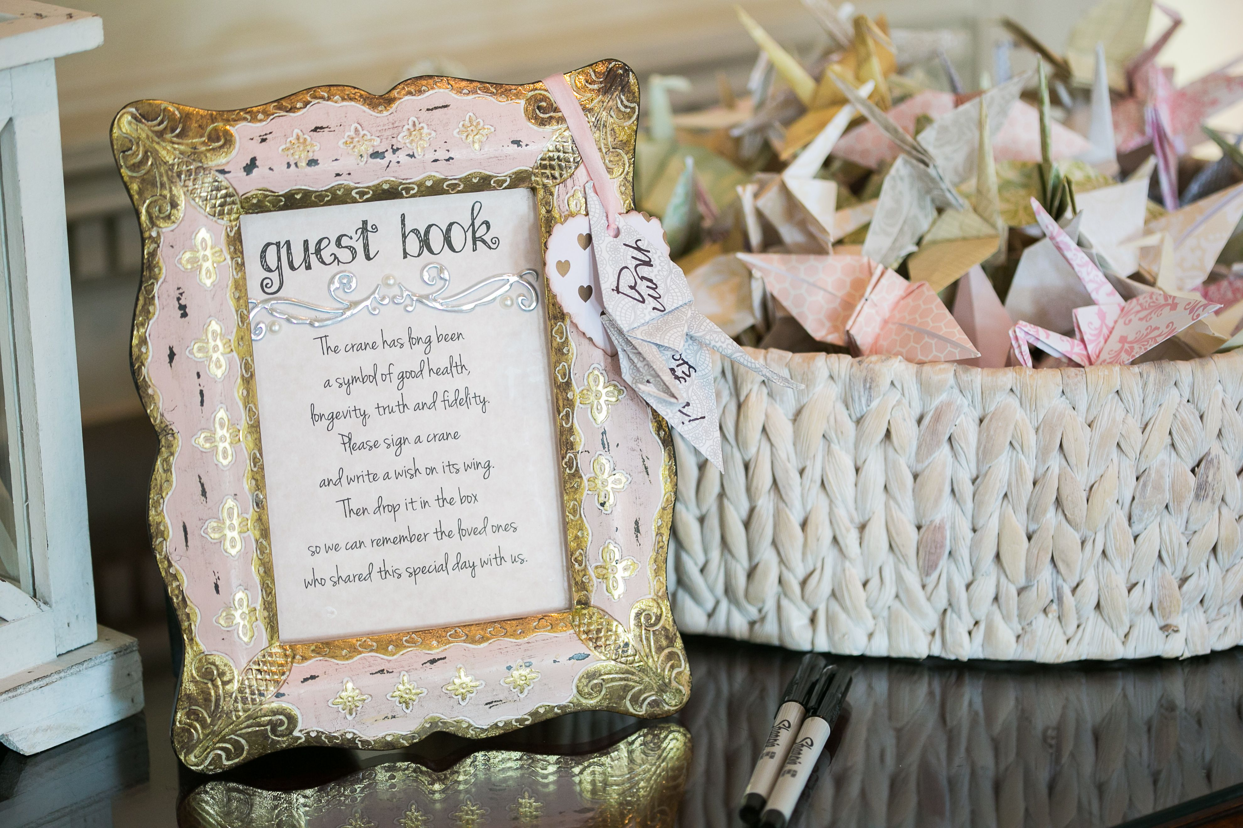 Colorful Origami Guest Book