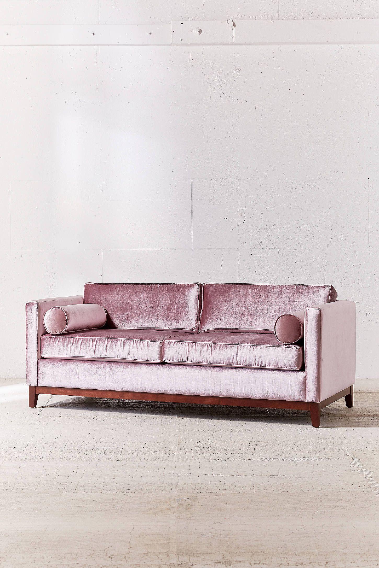 Piper Petite Velvet Sofa Velvet Sofa Pink Sofa Velvet Furniture