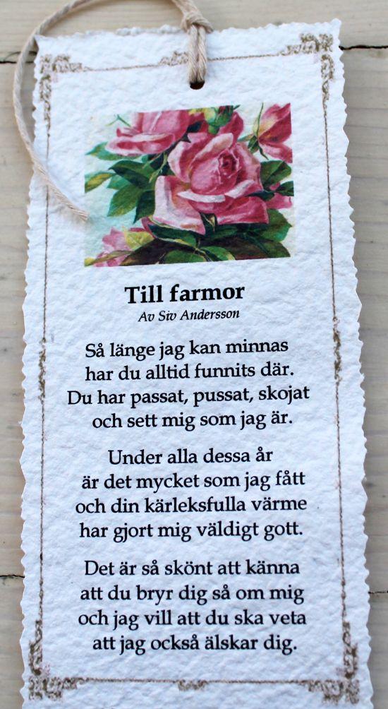 grattis mormor dikt Till+farmor. (550×1004) | Dikt | Pinterest | Texts and  grattis mormor dikt