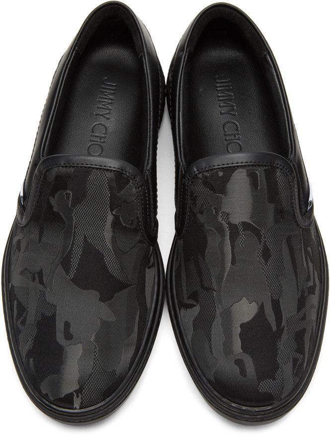 f2e62e3b8c5 Jimmy Choo - Black Camouflage Grove Slip-On Sneakers