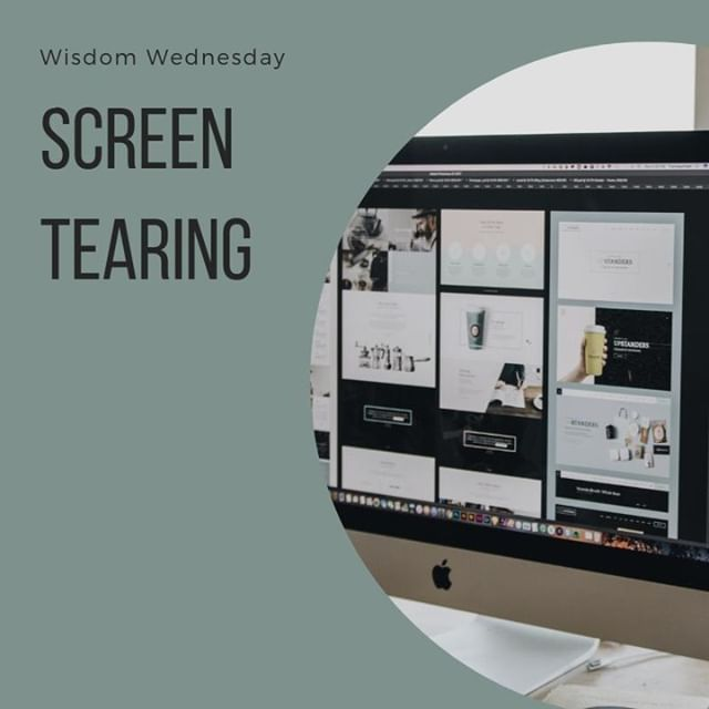 Screen tearing is a distortion in graphics that happens when the