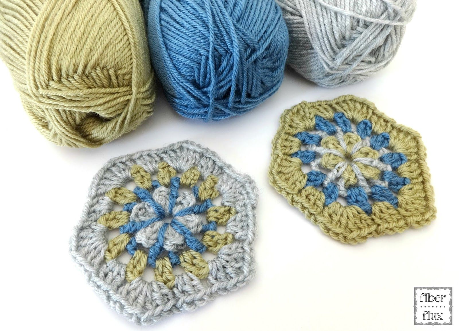 Free Crochet Pattern...Strawflower Hexagon Motif! | Cuadrados de ...