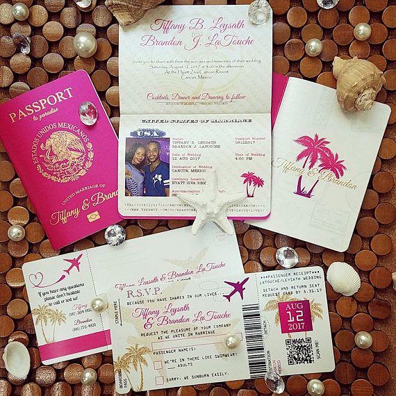 Vanessa's Destination Wedding Invitations DIY Metallic