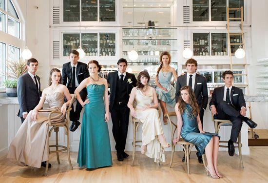 fashion inspired bridal party photo