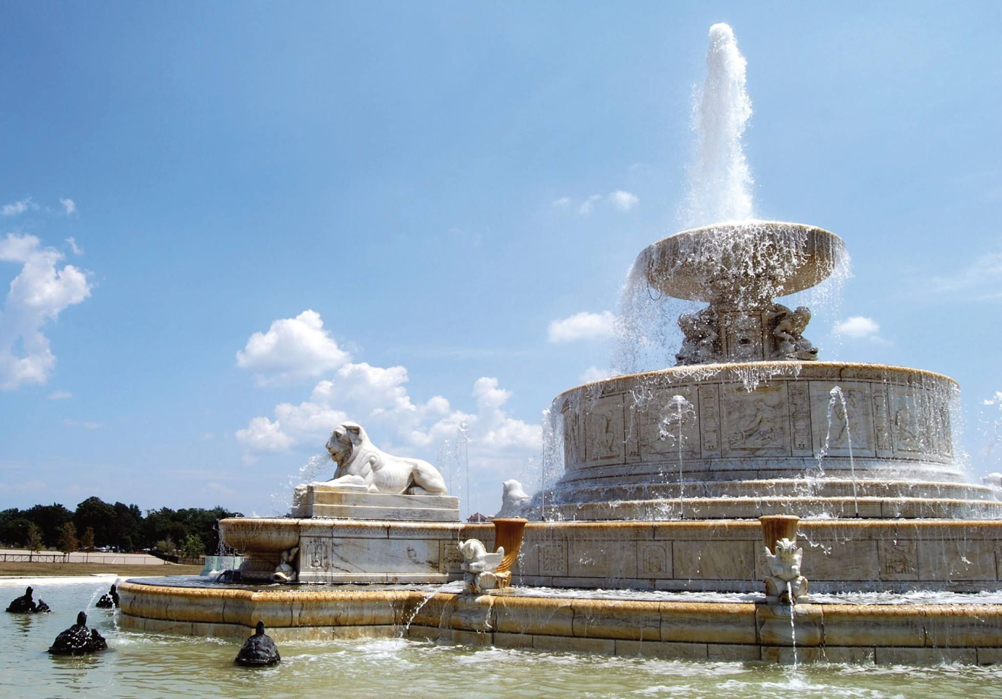 Scott Fountain on Belle Isle in Detroit, Michigan