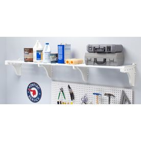 Ez Shelf 3 33 Ft To 6 25 Ft White Adjustable Mount Wire Shelving Kits Ezs G Sw72 Wall Mounted Storage Shelves Wire Shelving Shelving Racks