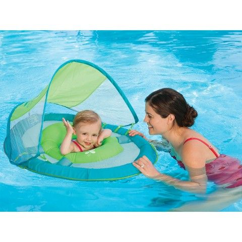 Swimways Baby Spring Float With Sun Canopy Blue Sailboat Solid Baby Pool Floats Baby Float Baby Pool