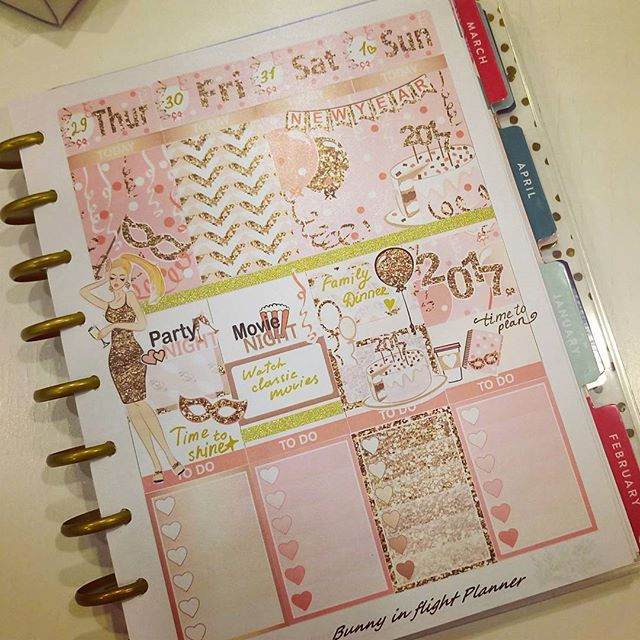 My New Year S Week Spread Time To Shine Plan Planner