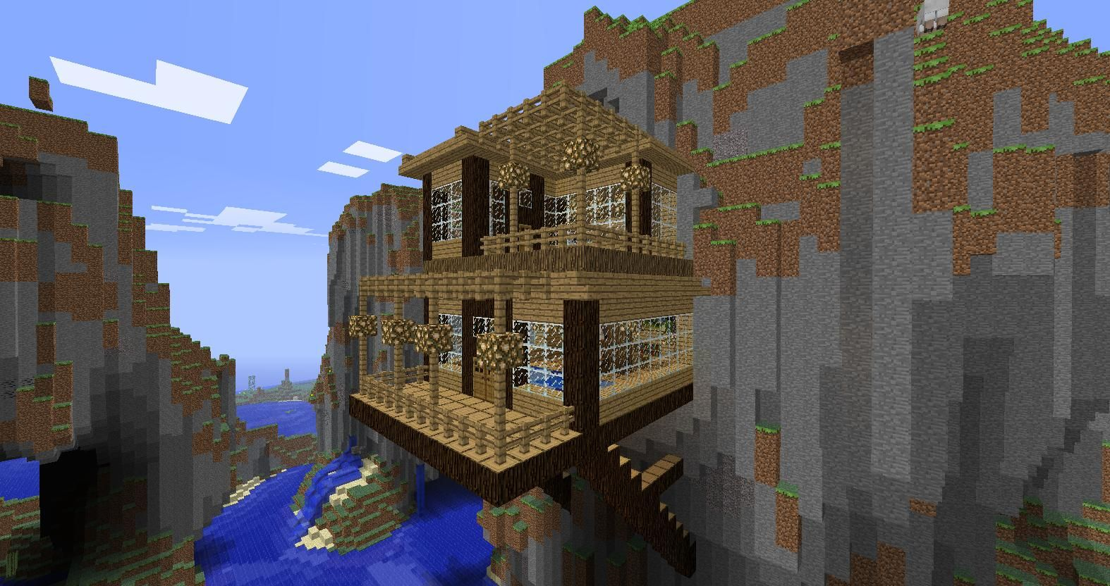 Easy Mountain Side Home On Minecraft