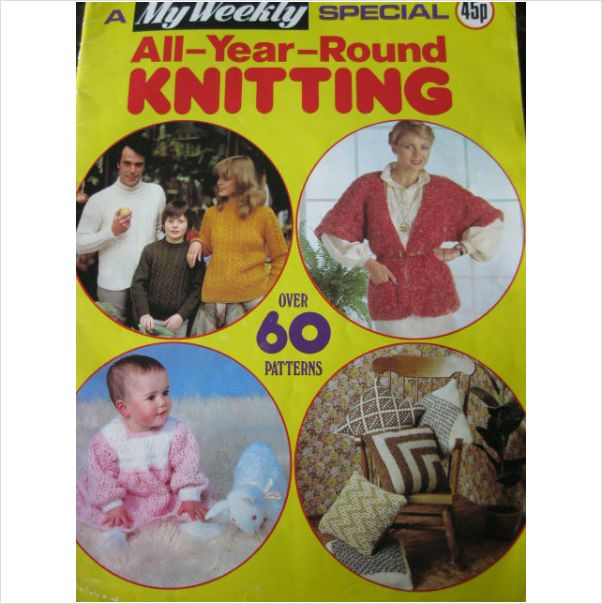 1980s My Weekly Magazine Family Knitting Crochet Patterns For All