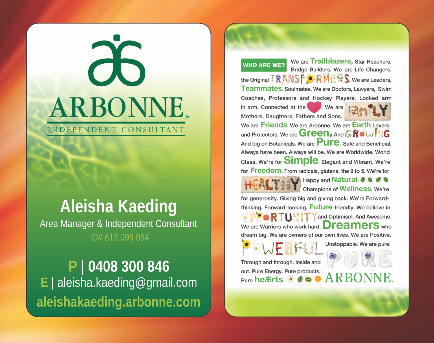 best pictures for arbonne business cards - Google Search | arbonne ...