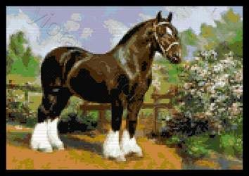 Shire horse cross stitch kit or pattern