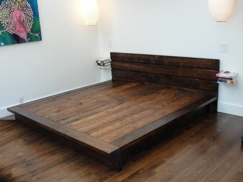 Diy king platform bed frame woodworking pinterest king platform bed platform bed frame - Build your own king size platform bed ...