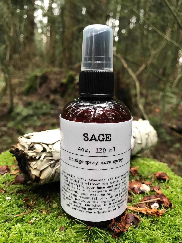 Sage Smudge spray, aura spray, Sage spray, energy