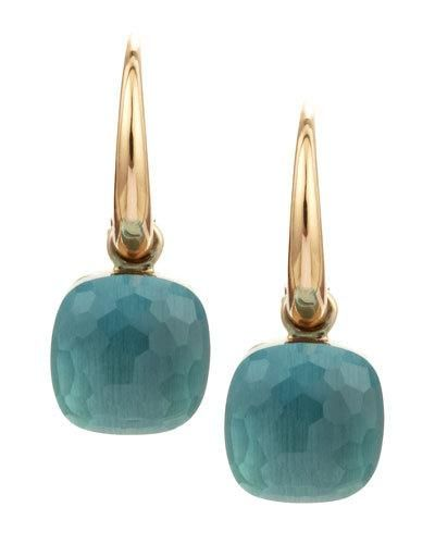 POMELLATO Nudo Small 18K Blue Topaz Earrings. #pomellato #