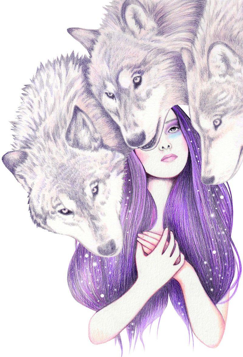 Andreahrnjak Wolf Pack Wolf Spirit Animal Wolf Artwork Creature Art