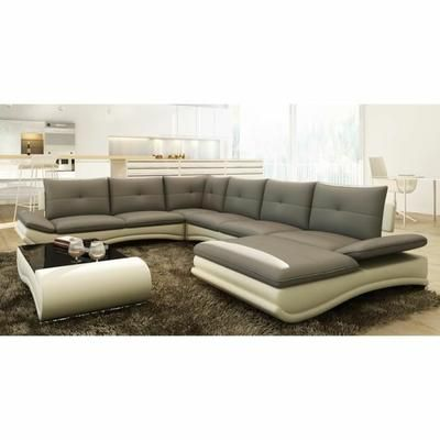 Canapé d angle design panoramique gris et blanc me