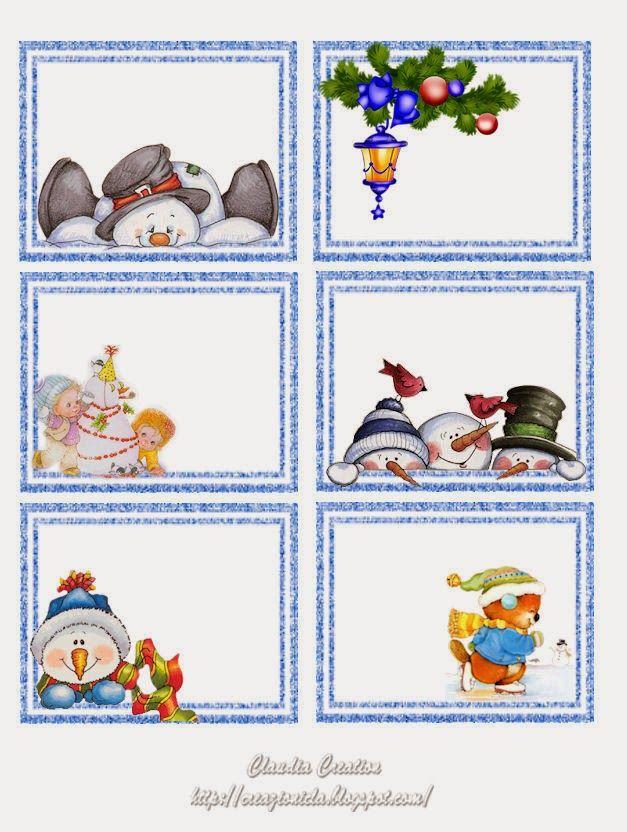 PARA IMPRIMIR: Stickers para regalos de Navidad | TARJETAS Y ...