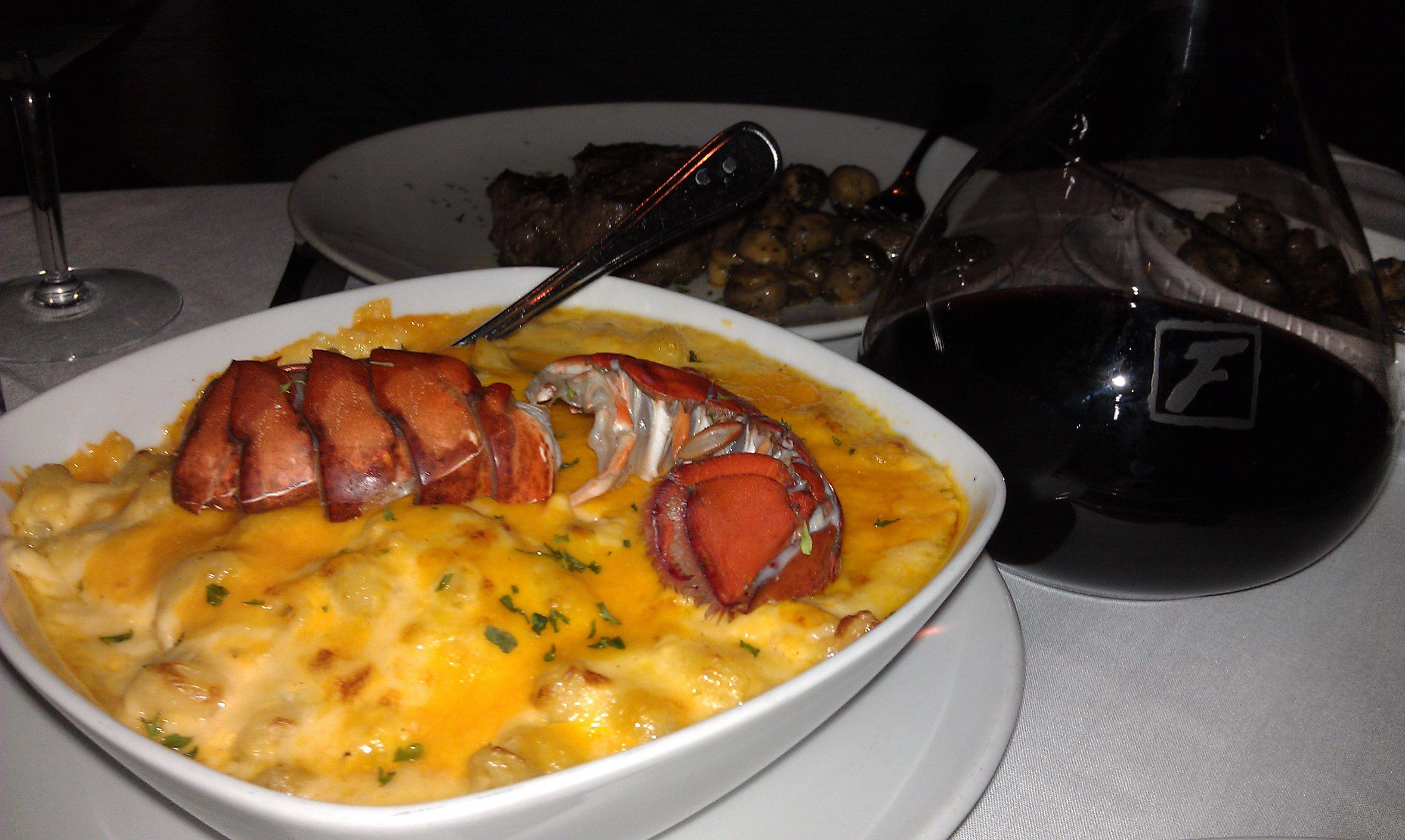 Lobster Mac N Cheese At Flemings Steakhouse Food Lobster Mac And Cheese Foodie
