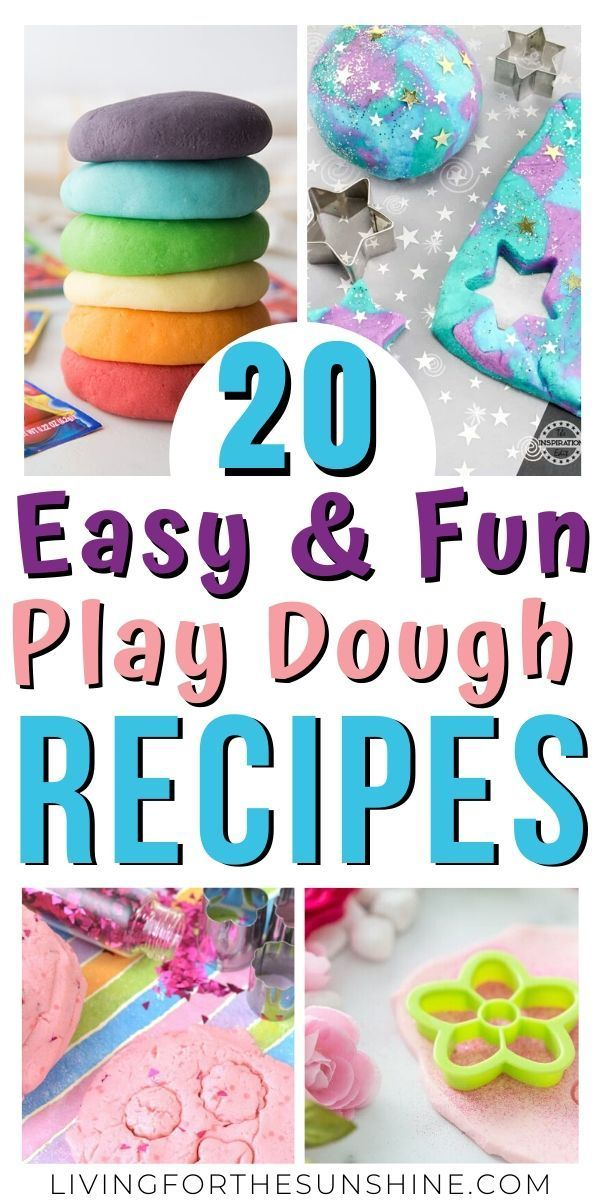 20 Amazing Play Dough Recipes You Must Try Homemade