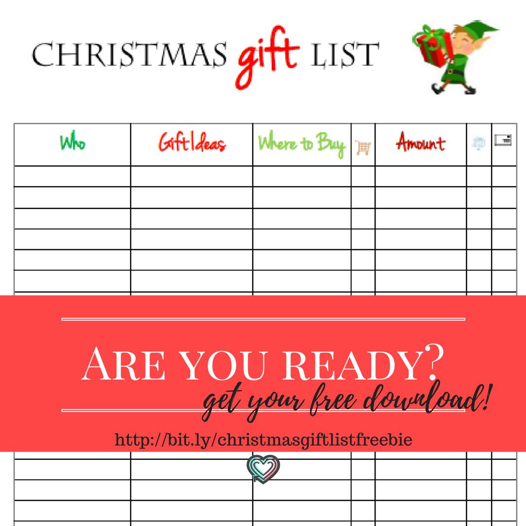 Free Christmas Printable To Keep You On Track This Year
