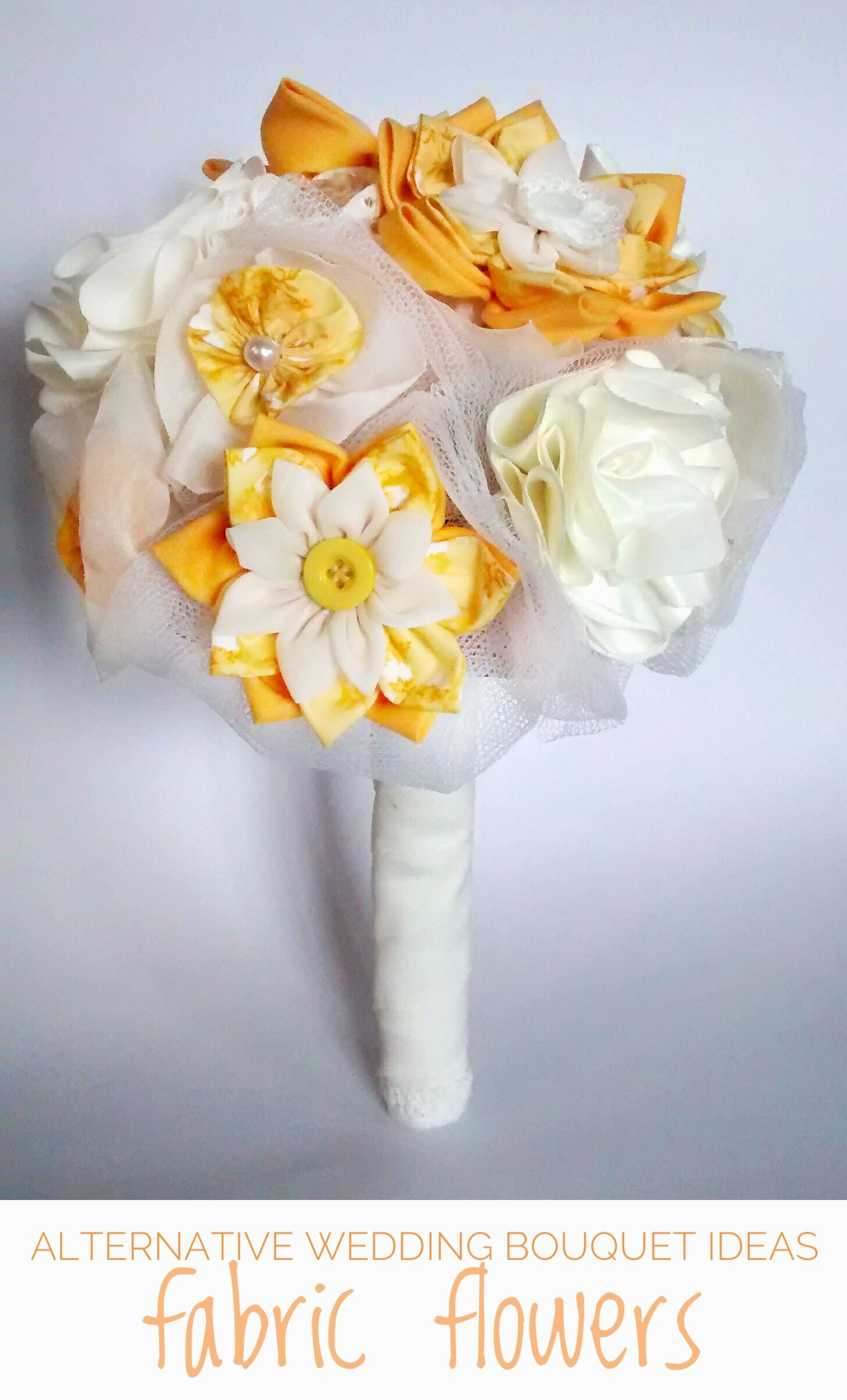 Fabric Flowers Bouquets Perfect If You Dont Want Natural Ones If