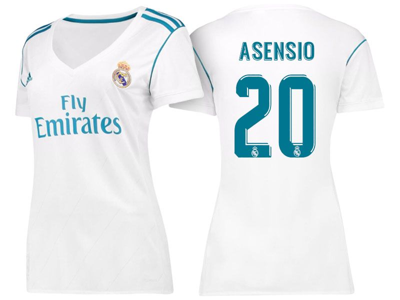 Women Real Madrid 17-18 Home Jersey Shirt marco asensio | cheap Real ...