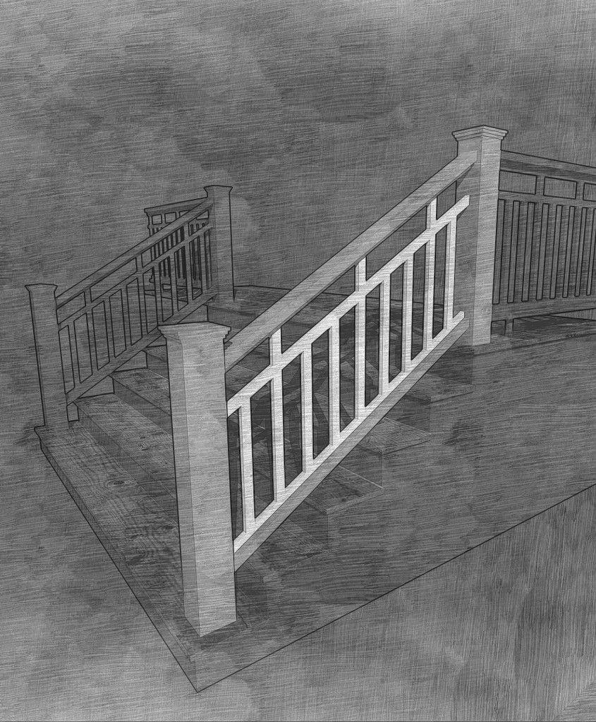 The Craftsman Stair Panel Stair Paneling Stairs Craftsman Porch