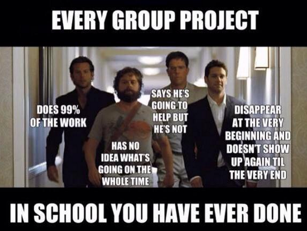 The 8 Types Of People You Get Stuck With In A Group Project With