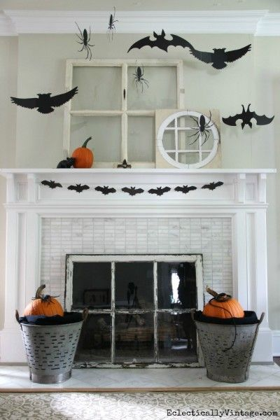 3-D Silhouette Halloween Mantel - see how to create your own