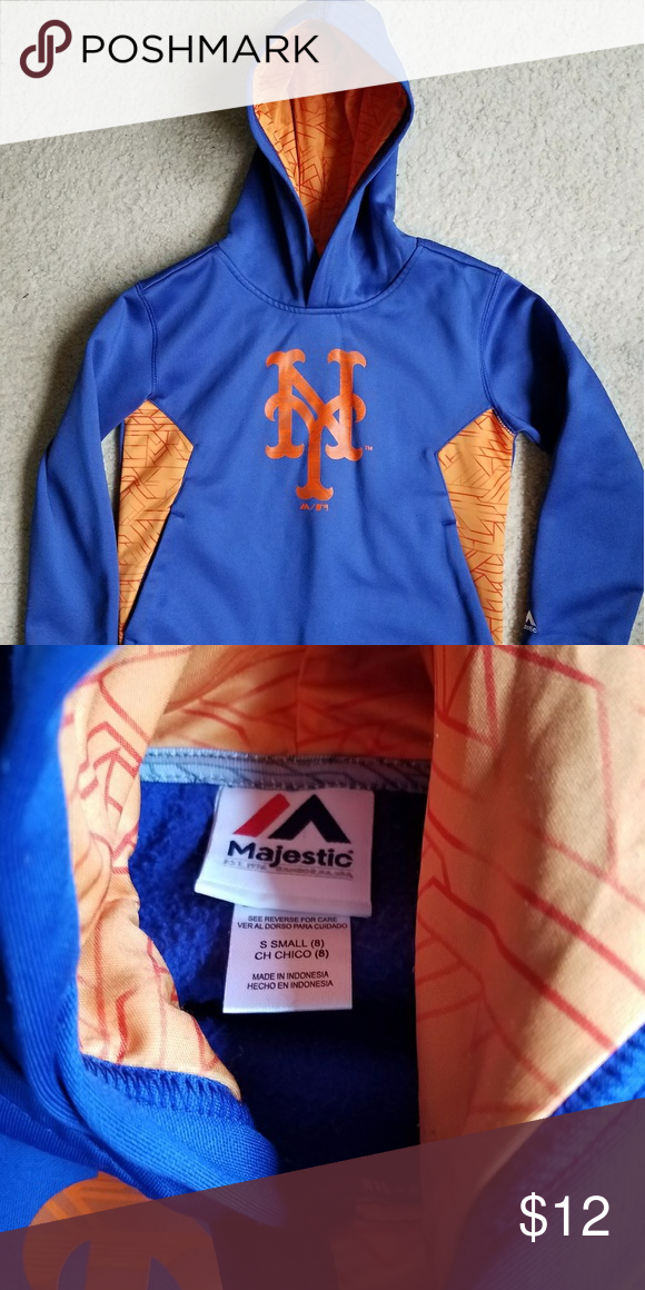 the latest 1dccf 16ee6 New York Mets Hooded Sweatshirt size Small 8 New York Mets ...