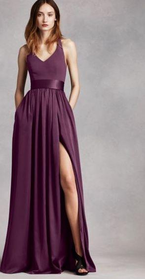 Vera Plum Bridesmaid Dress For Jewel Toned Wedding More
