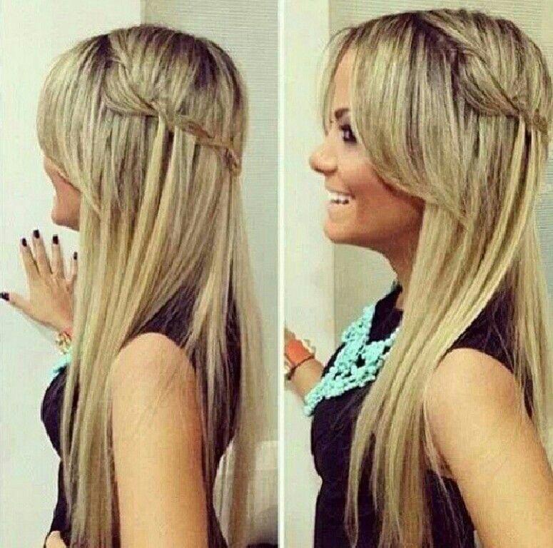 Acogedor peinados sencillos pelo suelto Fotos de los cortes de pelo de las tendencias - Pin de Monica Martinez en Hair | Peinados cabello lacio ...