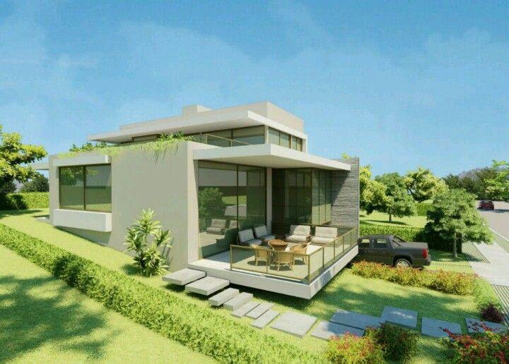 Maison contemporaine mix toit tuiles et terrasse végétalisée - plan maison contemporaine toit plat gratuit