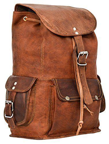 "5311057882 Gusti Cuir nature ""Gary 13"""" sac à dos en cuir backpack bagage à ..."