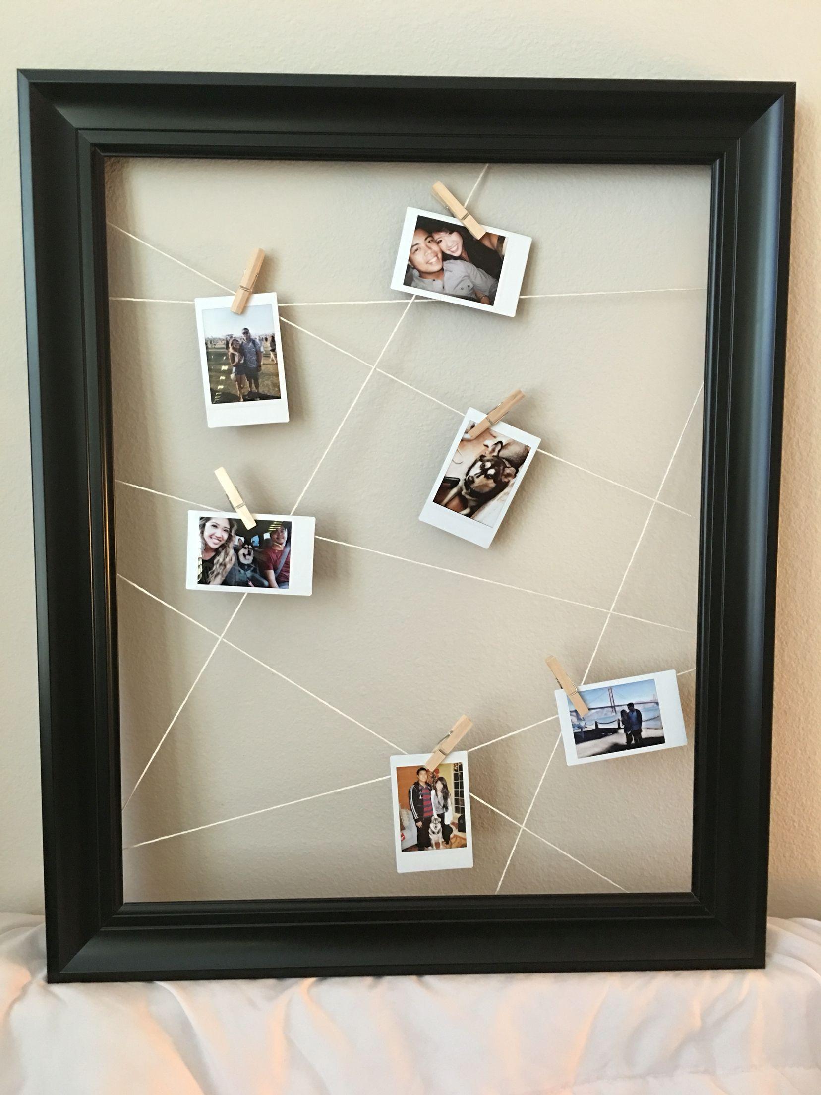 DIY Polaroid Frame | DIY for Him | Pinterest | Polaroid frame