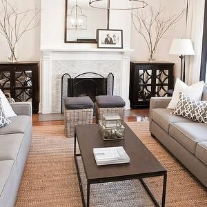 Lux Decor Living Rooms Natural Fiber Rug Sisal Bound Wood And Iron Coffee Table Topped Leaded Gl Windows