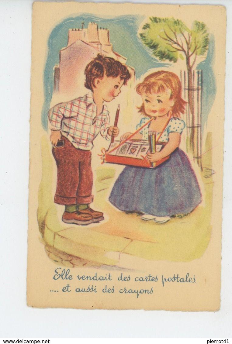 Elle Vendait Des Cartes Postales : vendait, cartes, postales, ENFANTS, Jolie, Carte, Fantaisie, Enfants,