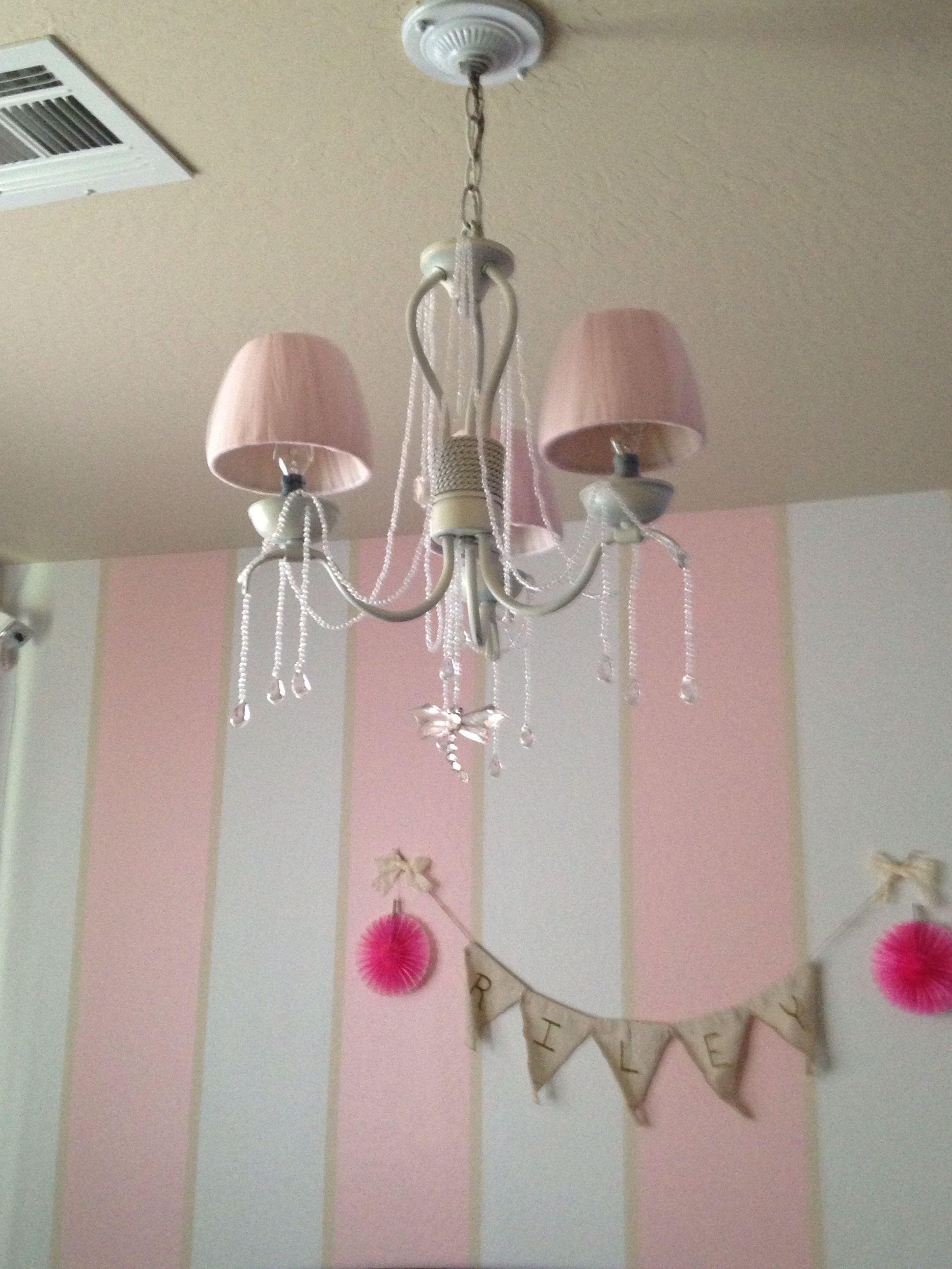 Baby girl room chandelier.