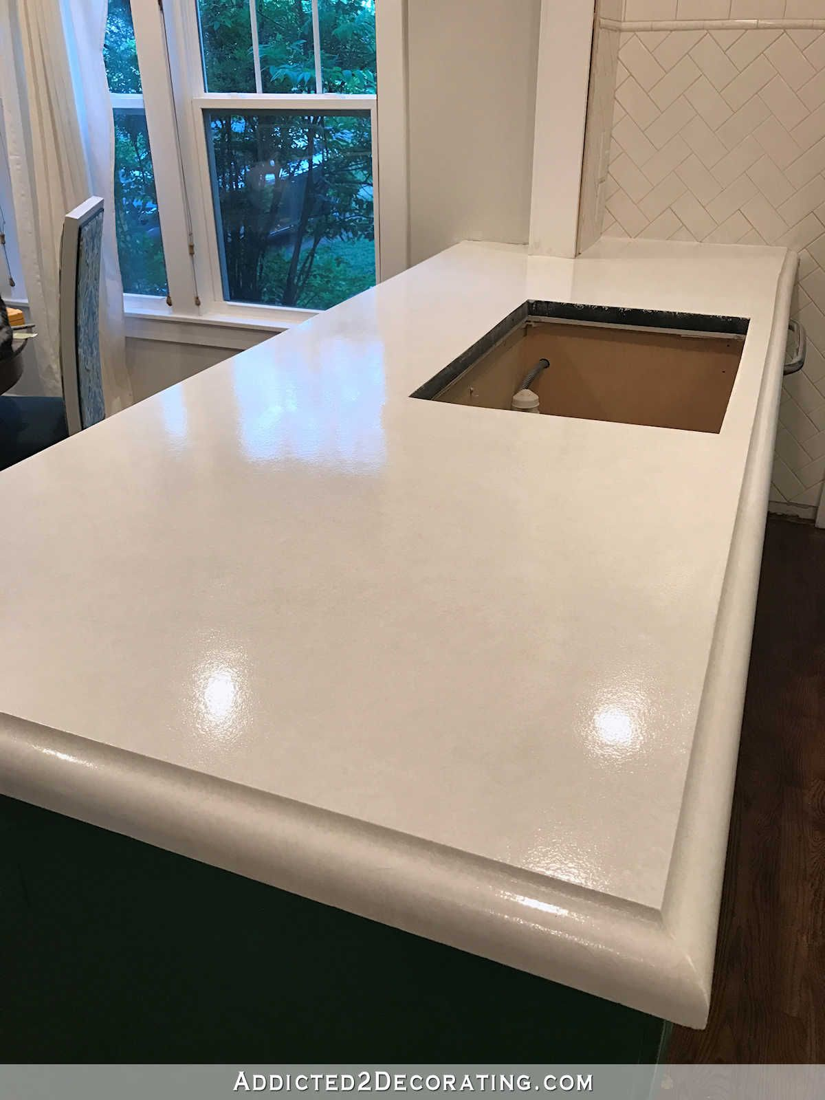 My FINISHED Refinished Concrete Countertops (Top Coated With Polyurea)