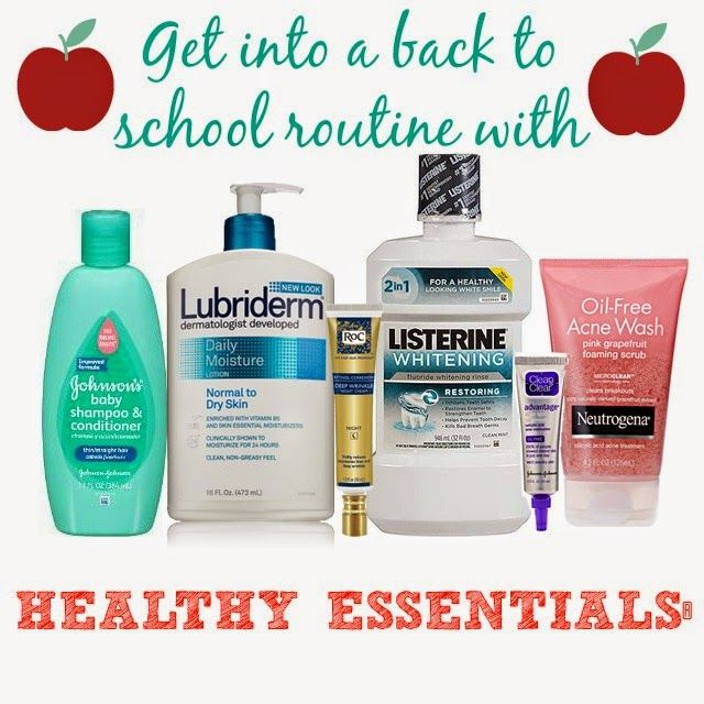 Getting Into A Back To School Routine With Healthy Essentials Moms4jnjconsumer Ad School Routines Back To School School