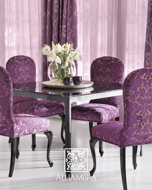 Purple Kitchen Chairs: Purple Is So SEXY And LUXURIOUS,and ELEGANT On These