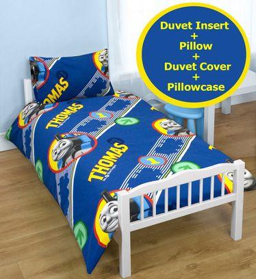 Thomas The Tank Junior Duvet Bundle. Includes inserts - http://www.childrens-rooms.co.uk/thomas-the-tank-junior-duvet-bundle-includes-inserts.html #thomasthetankengine #toddlerbedding #beddingbundle #thomas