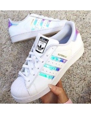 Adidas Superstar Classic White Hologram Iridescent Black