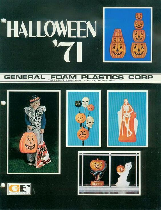 1971 General Foam Halloween Decorations Catalog Vintage Holiday - halloween catalog