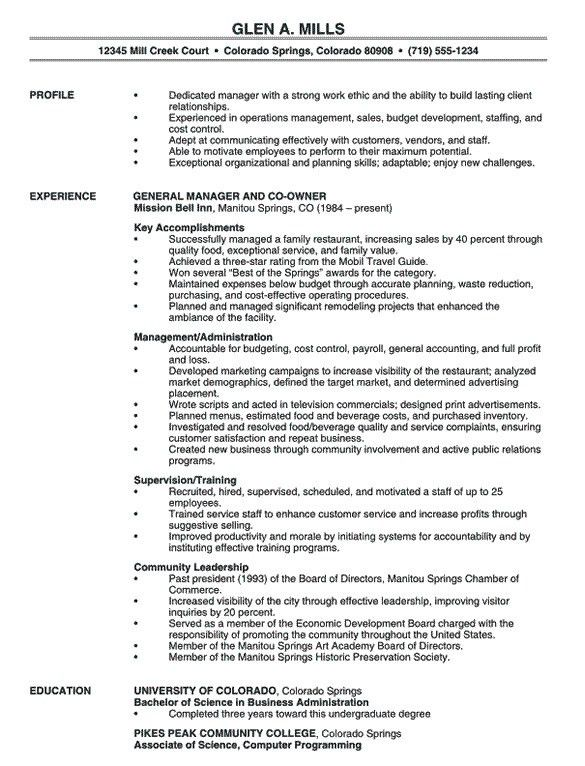 Manager Resume Template 15 Free Samples Examples Format Template Net Sampleresume Manager Restaurant Resume Professional Resume Examples Good Resume Examples