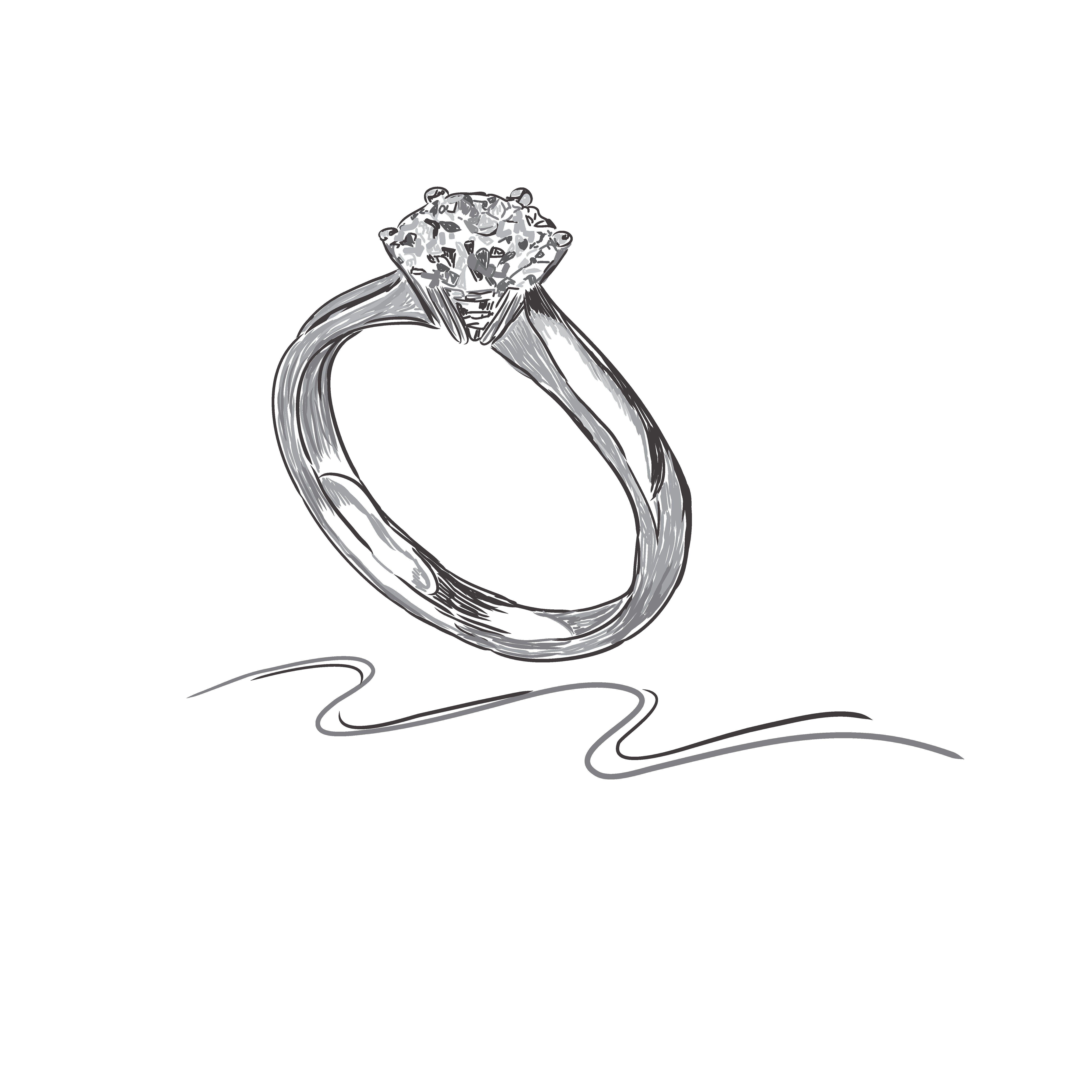 wedding ring, sketch, vector | ring sketch, jewellery design sketches,  jewelry drawing  pinterest