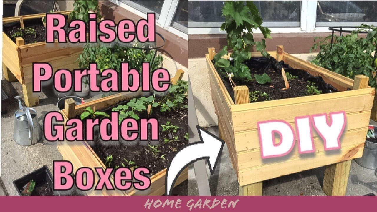 Diy Raised Portable Garden Bed Planter Boxes Home Garden