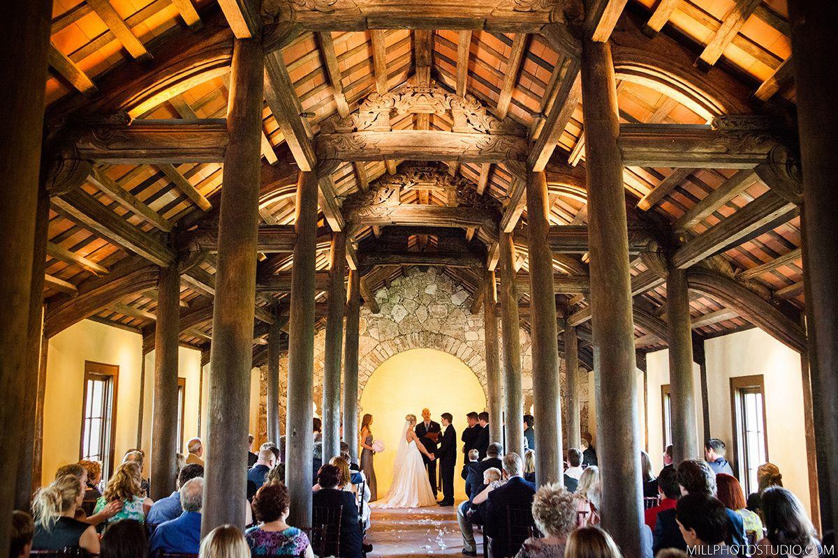 Inside the chapel at Ian's Chapel wedding venue at Camp