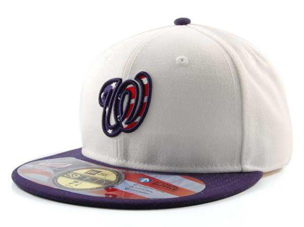 Washington Nationals Cap New Era 59Fifty MLB Authentic Collection Stars and  Stripes 10ba4a0e02e